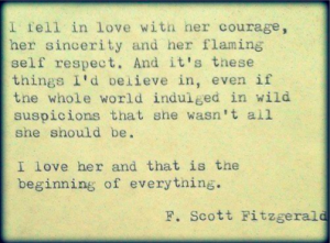 F Scott Fitzgerald woman quote