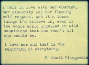 F Scott Fitzgerald woman quote